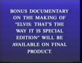 Bonus footage not included on this pre-view copy